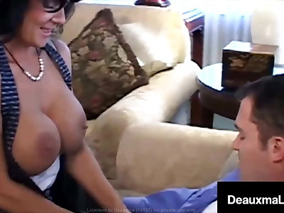 Big Titty Mommy Deauxma Jets Jizz With Lucky Fan Fucking!