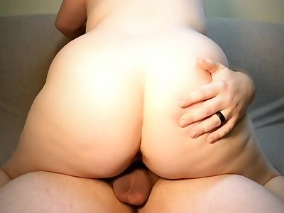 Sexy milf masterbates, rides dick, squirts added to takes a creampie.