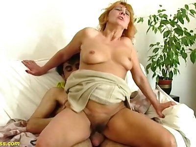 Redhead hairy bush MILF gets extreme rough big cock banged in all positions at thome